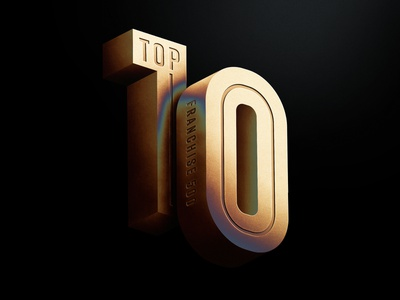Top 10 andrew footit logo debossed metal metalic 3d typogaphy editorial