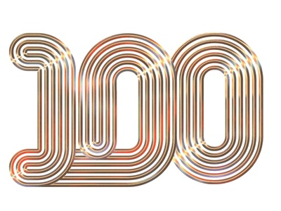 Billboard Power 100 music magazine editorial logotype andrew footit illustration type 3d typography