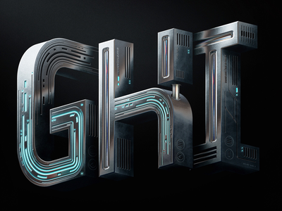 36 Days Of Type - GHI typography andrewfootit tech photoshop metal 36daysoftype