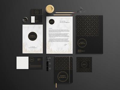 Ankit Events - Branding branding and identity stationery design graphic design business card logo logo design