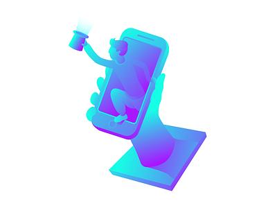 Optimoose  #1 adobe illustrator vibrant gradient cyan blue illustration vector