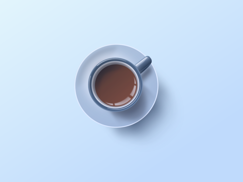 1000 Words madewithadobexd above artwork composition art 2d cup break morning happy vector icon design photorealistic xd skeuomorphic mug coffee illustration