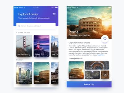 Travel App UI ui travel application ios uiux