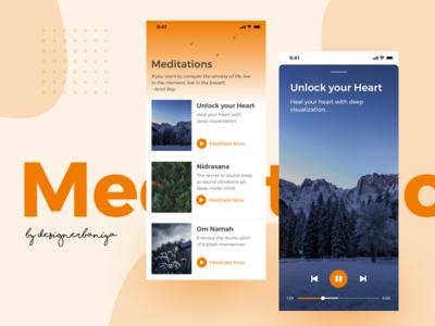 Meditations ux uiux responsive ios design dribbble application ui
