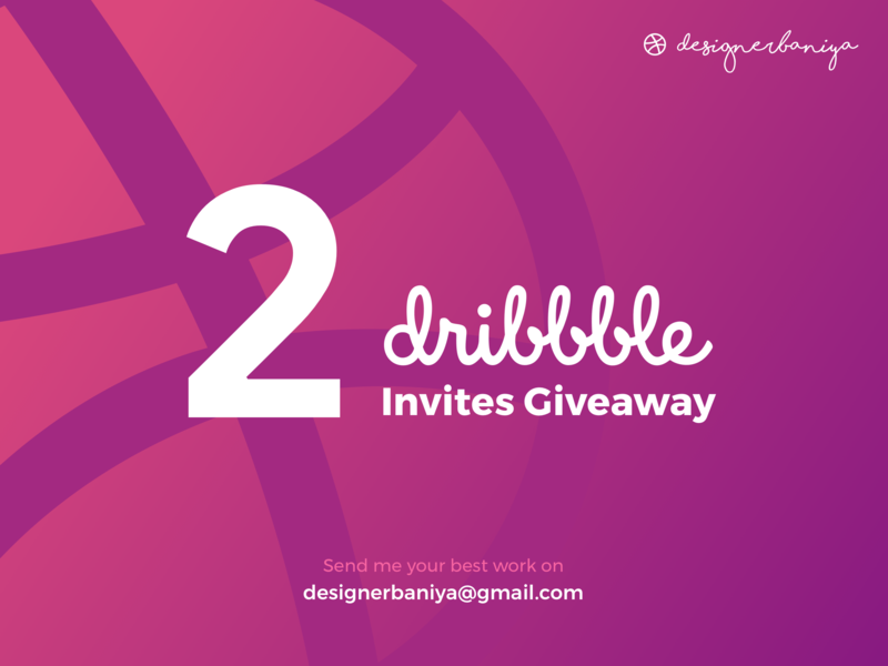 Dribble Invite Giveaway giveaway vector illustration graphic dribbble uiux design