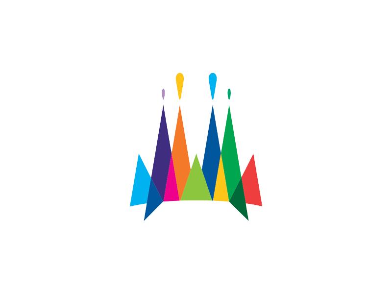 Barcelona gaudi sagrada familia icon logo spain barcelona