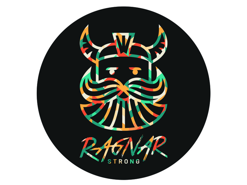 Ragnar Strong Logo-Coaster illustrator minimal lettering type vector typography logo illustration icon flat design branding