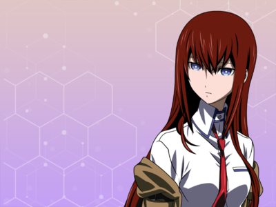 Kurisu from Steins Gate Vector Art