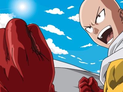 Saitama From One Punch Man Vector Art 👊