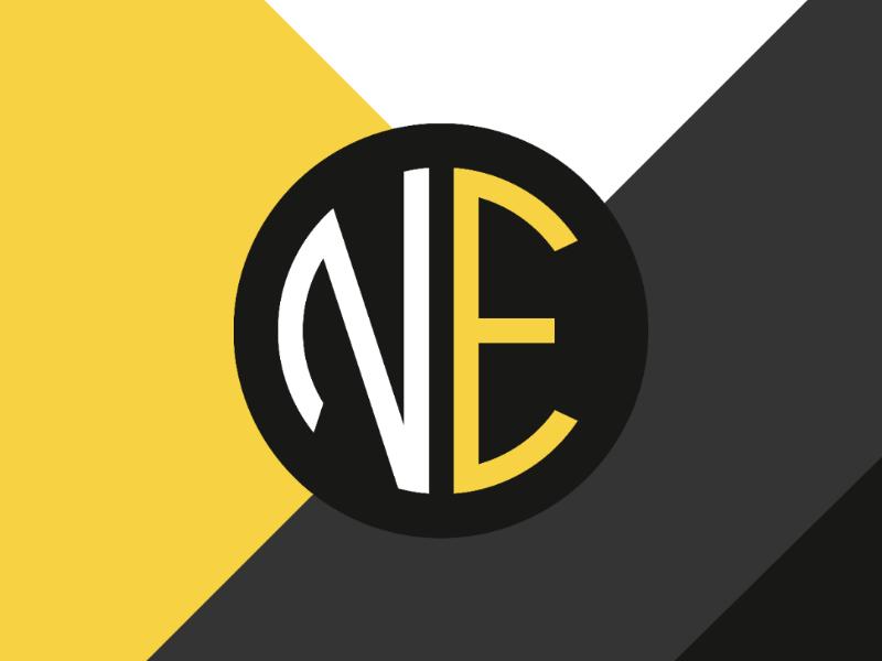 NE Monogram Logo Design monogram vector design vector drawing vector graphics vector illustration vector graphic design design graphic designer logo design logo
