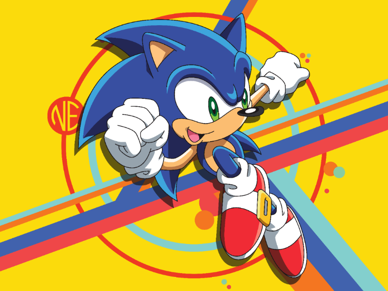 Sonic The Hedgehog Vector Art By Nick Else On Dribbble