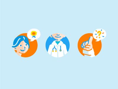 Doctor booking illustration