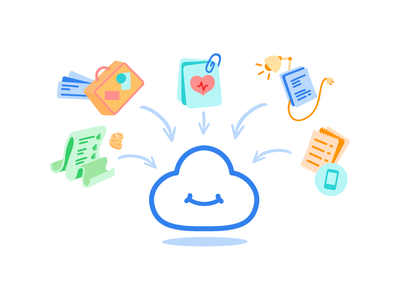 Connect my accounts to my Cozy document storage personal expenses bank phone bill consumption electricity health travel empty state brand data collection data collect administrative cloud cozycloud cozy