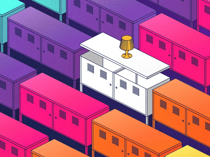 Ikea PS design vector affinitydesigner illustration isometric art isometry ikea