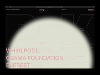 Portfolio Explorations – 01 personal webdesign typography experimental portfolio