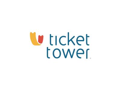 Ticket app logo (WIP) logo ticket app design tower