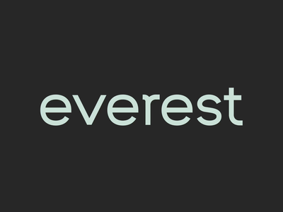 Everest Wordmark sans serif wordmark animated branding logotype logo