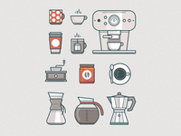Cup O' Coffee Icon Set
