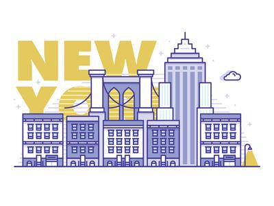 NY City empire state ny new york illustration icon icons