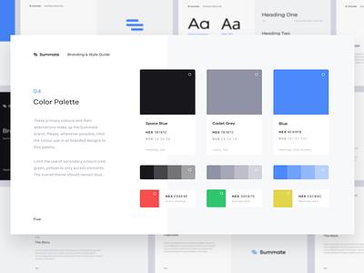 Summate – Branding finance accounting invoicing style guide branding logo