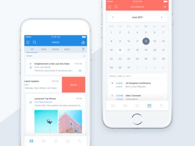 Email App UI Kit for Sketch