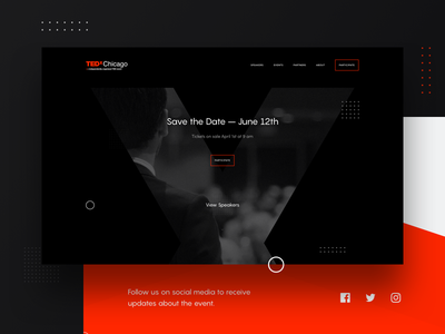 TEDx Chicago 2018 ted tedx conference website layout web chicago