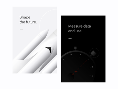 Cards stopwatch rocket spacecraft shuttle gradients illustration