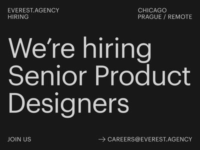 Everest is Hiring! careers graphik layout typography hiring job work agency everest