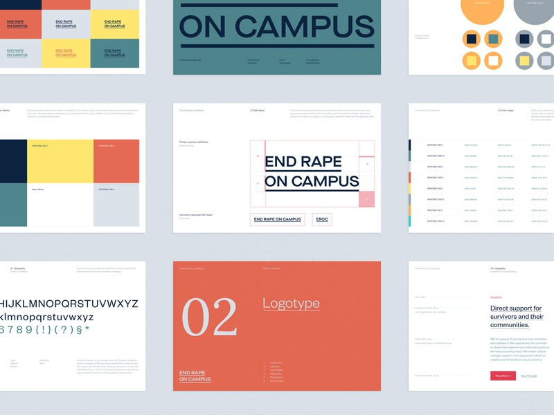 EROC Brand Guidelines nonprofit activism design logotype typography logo branding