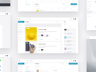 Clareo –Screens service app saas analytics design ux ui innovation product dashboard design system