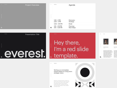 Everest Deck Template portfolio typography minimal brand internal deck presentation template