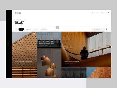 Gallery Interaction after effects lightbox animation interaction gallery interior design button hover rollover ui web