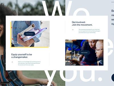 EROC – Website Style #1 ui non-profit nonprofit website layout web