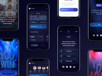 Triviahedge android app ios app android ios gameshow ui design ui design app game trivia app
