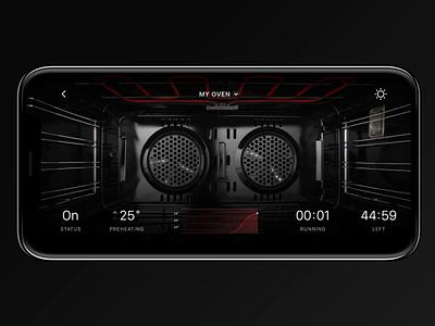 IoT Oven Range App cooking oven kitchen ios app ios app app design internet of things iot