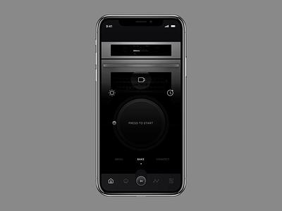 IoT Oven Range App #3 temperature ios app iot smart home app design ios app oven kitchen app
