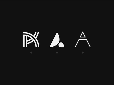 A - Lettermark Exploration vector simple minimal lettermark letterdesign letter flat  design illustration icons icon geometric flat design logo design collection clean branding typography logotype logo