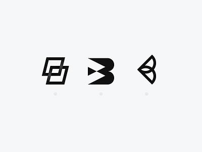 B - Lettermark Exploration logo logotype typography branding clean logo design collection design flat geometric icon icons illustration flat design letter letterdesign lettermark minimal simple vector