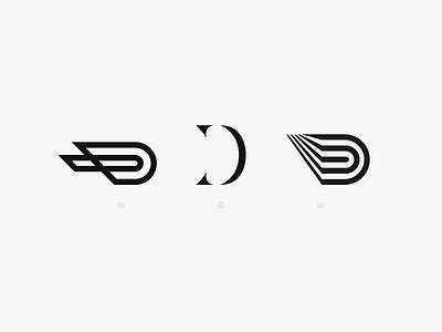D - Lettermark Exploration vector typography simple minimal logotype logodesign logo lettermark letterdesign flat illustration letter icon type geometric flat design design collection clean branding
