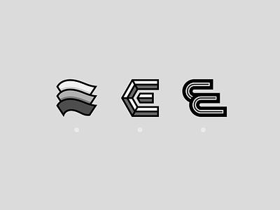 E - Lettermark Exploration badge logodesign logotype logo design simple flat design illustration minimal lettermark letterdesign letter geometric collection clean typography logo icon flat design branding