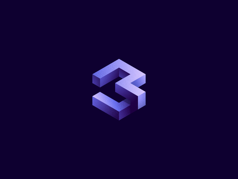 Nº3 identity numbering graphic gradient numbers clean collection geometric design branding icon 36daysoftype lettermarkexploration illustration logodesign logo isometric illustration 3 number isometric