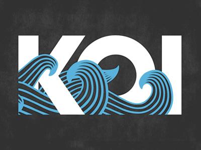 Something Fishy branding logo illustration typography koi fish