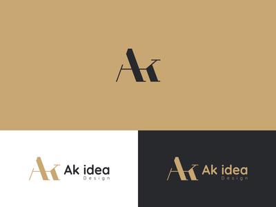 Ak idea .. Brand design interior logodesign aklogo alogo logos logo branding