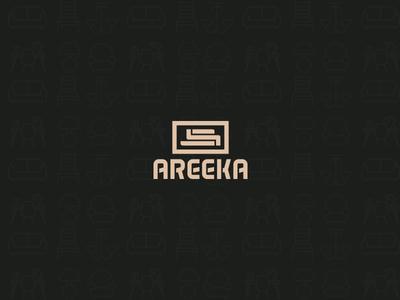 Areeka .. Brand logodesign interior design branding alogo logos logo