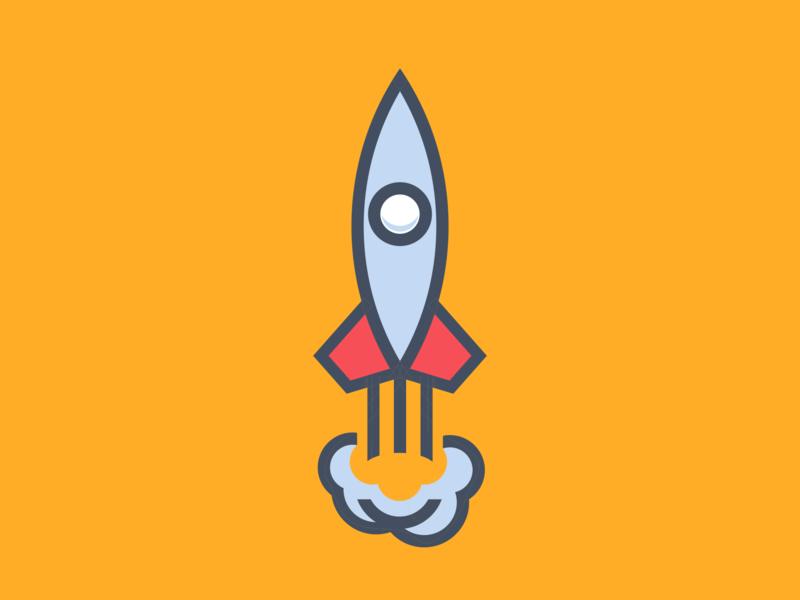 Rocket Illustration icon minimal logo design logo vector design illustration flat branding