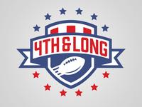 4th and Long Fantasy Football League Shield