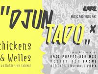 """""""Djuntado"""" - Gare Porto party poster"""