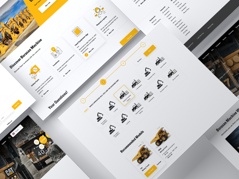 Borusan Makina caterpillar ui interaction ecommerce design concepts ux ui design ux website ui ux web design webdesign art user interface user interface design layoutdesign layout home page design home page layout design