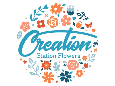 Creation Station Flowers Logo