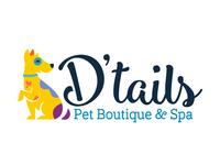 D'Tails Pet boutique and Spa Logo